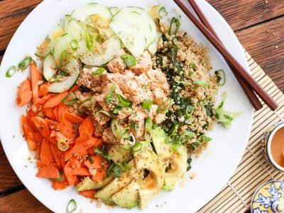 Spicy Tuna Quinoa Sushi Bowl