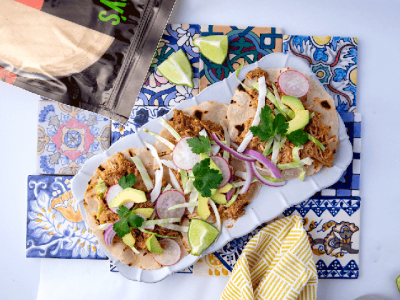 Pork Carnitas Tacos With Slaw And Avocado